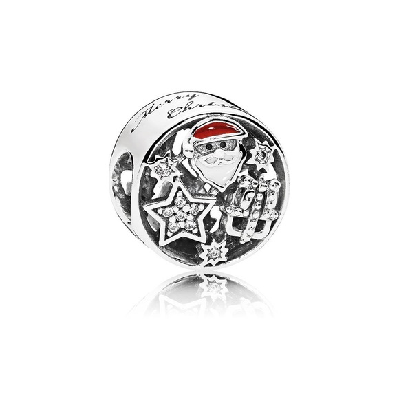 a43d10574 Pandora Jewelry | Christmas Joy Charm Mixed Enamel Clear Cz | Poshmark